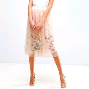 Asos Tulle Skirt with Crochet Lace Under skirt